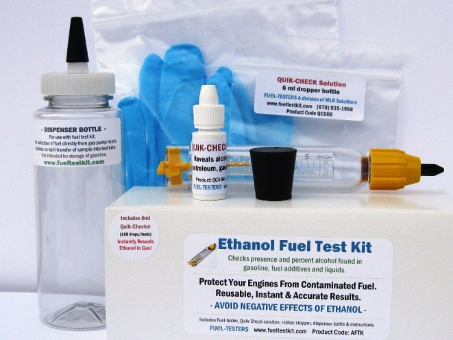 Complete Alcohol Fuel Test Kit AFTK06 includes 6ml QCS and more -Does not include tester stand.