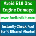 Test fuel: Avoid E10 Gas-caused Engine Damage: www.fueltestkit.com