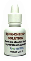 Quik-Check Indicator Solution -10ml bottle shown=300drops/tests. Fuel-Testers-Company